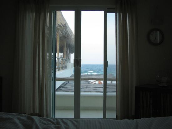 Casa Ixchel: view from bed in Grace 1