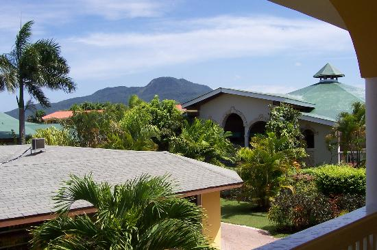 The Tropical at Lifestyle Holidays Vacation Resort: looking towards the lobby and the mountain beyond