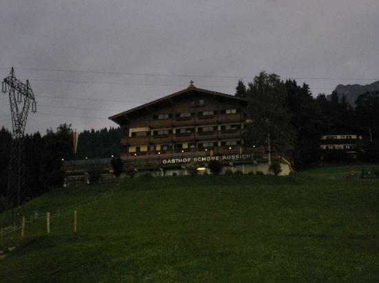Hotel zur Schönen Aussicht: Gasthof Schone Aussicht from the bottom of the hill