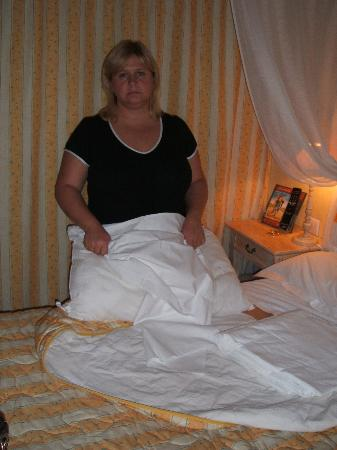 naked wife hotel bed