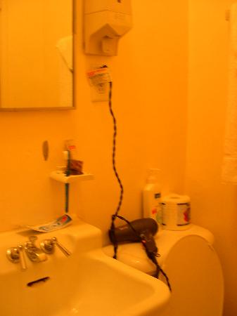 The Claremont Hotel: Note the soap dispenser