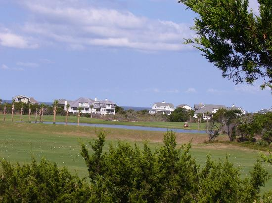 Bald Head Island, Karolina Północna: Golf Course View to Ocean