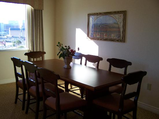 Dining room table awesome picture of wyndham grand for Dining room tables las vegas