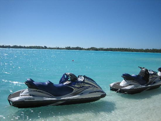 The St. Regis Bora Bora Resort: Jet skis at resort