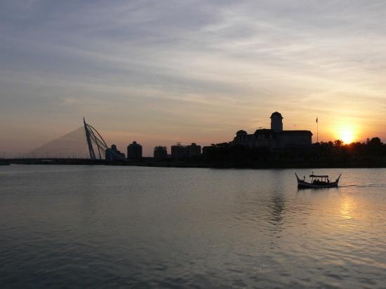 Sunset at Putrajaya-Modern Federal Administrative city of Malaysia
