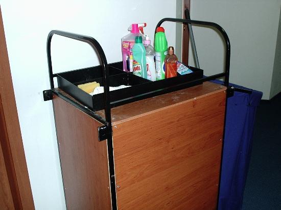 Hotel Sunset : trolley utside door every day