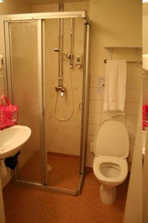 Hotell Bjorken: The bathroom is pretty spartan. But clean.