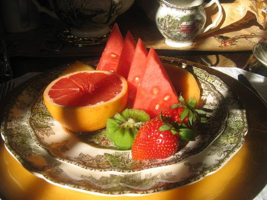 Ridley Gate Manor : breakfast fruit platter