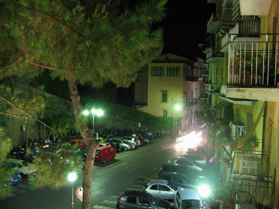 Hotel Savoia: Looking out from the balcony at night