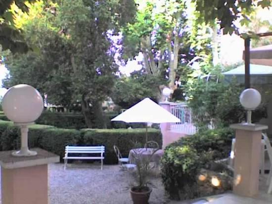 Aubagne, France: The terrace and grounds