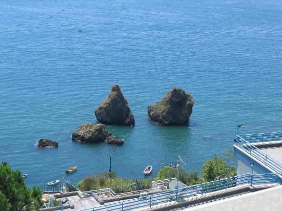 Salerno, Italy: One can swim to these rock formations from the beaches along the Marina district of Vietri...