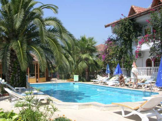 Mehtap Hotel Dalyan: The pool and hotel