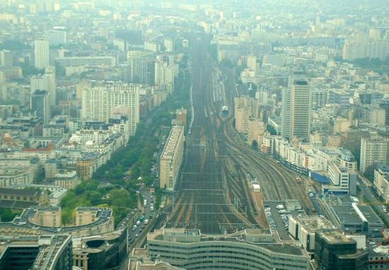Hotel Montparnasse Daguerre: Montparnasse Stn from Montparnasse Tower. (58th floor)