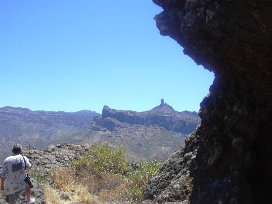Bungalows El Palmeral: view from Roque Bentayga