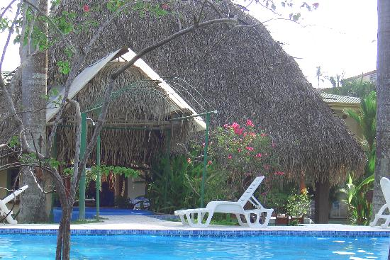 Villas Estrellamar: pool and hamock hut