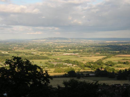 Malvern Wells, UK : View from the Terrace, looking East