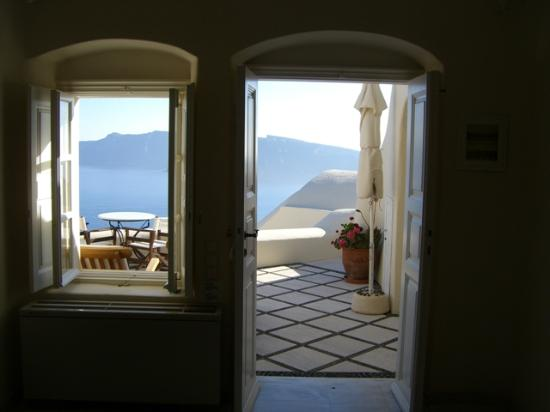 Canaves Oia Hotel: view from our living room