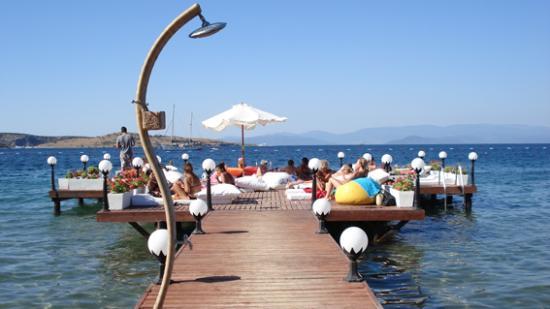 Ece Hotel Bodrum: Ece beach Club Jetty