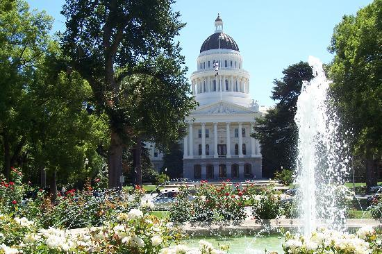 Downtown Sactown with the state capitol.