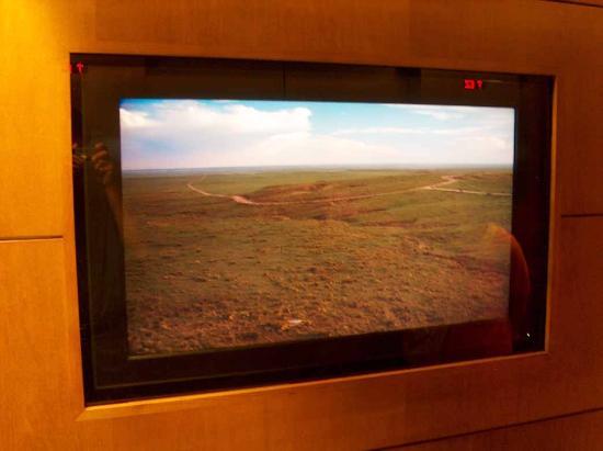 Hyatt Regency Denver At Colorado Convention Center: TV screen inside the elevator