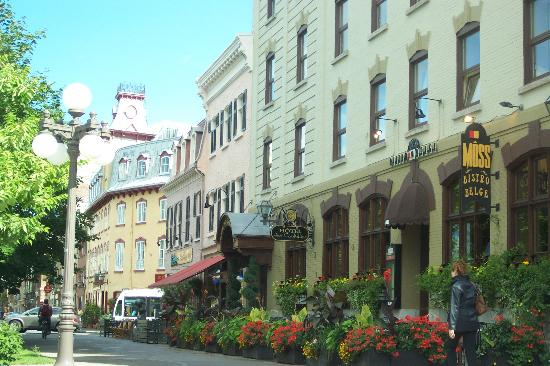 A beautiful Street in Quebec City