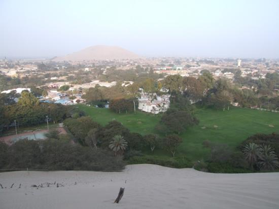 Hotel Las Dunas: View from the sand dune.