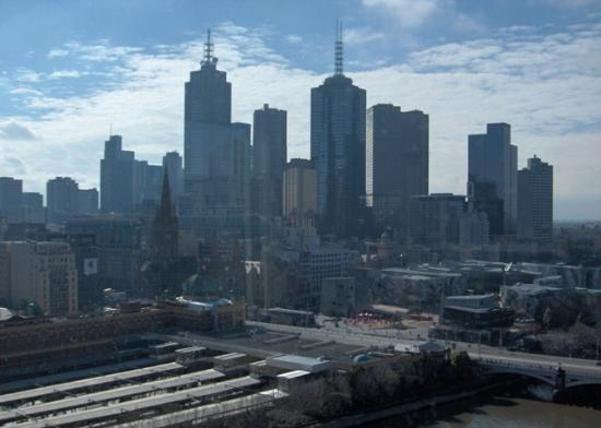 The Langham, Melbourne: City view from club lounge