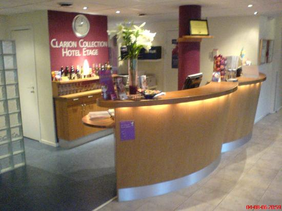 Clarion Collection Hotel Etage: reception