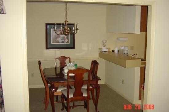 Wyndham Patriots Place: A-unit dining room
