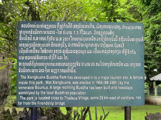Vientiane, Laos: Explanatory Sign