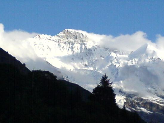 Residence Brunner: Jungfrau peak from Hotel Brunner, Wengen