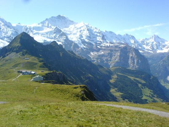Residence Brunner: Jungfrau peak from cable car station above Wengen