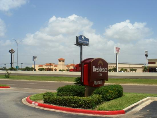 Residence Inn Brownsville : View of Highway 77