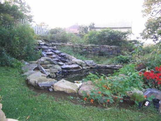 Roseledge Country Inn and Farm Shop : Cascading Waterfall in Garden