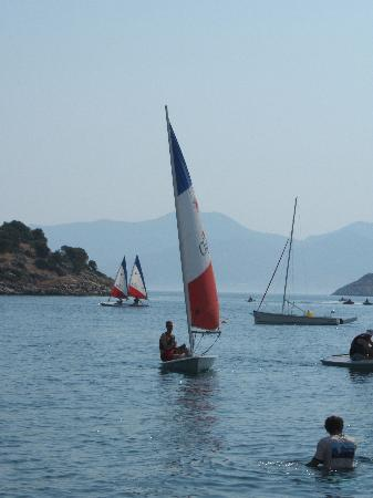 Datca, Turkiet: Laser racing