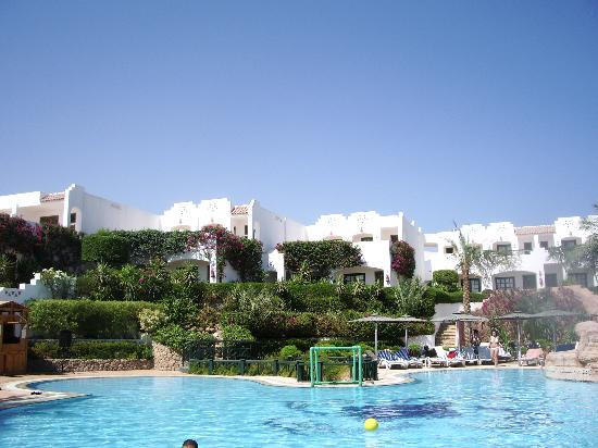 Verginia Sharm Resort: gardens surrounding pool area