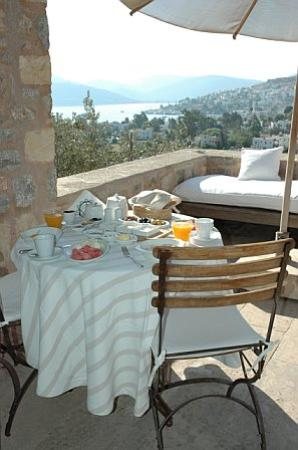 """Ada Hotel : The Ada's """"special breakfast"""" served out on our private terrace."""