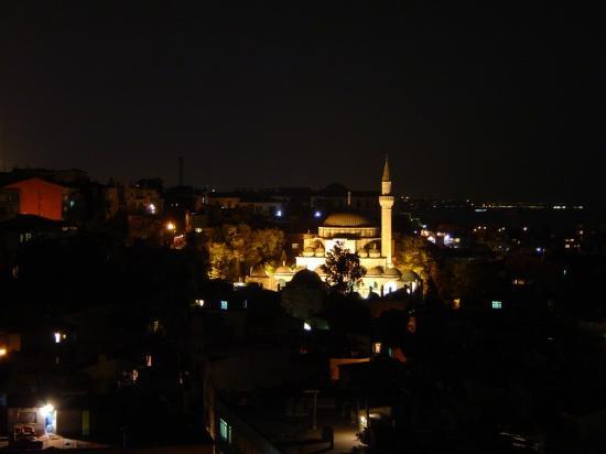 Grand Yavuz Hotel: Vista de la terraza por la noche