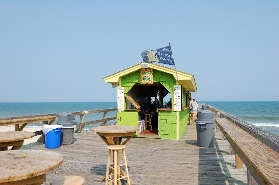 Golden Sands: The pier and the Tiki Bar