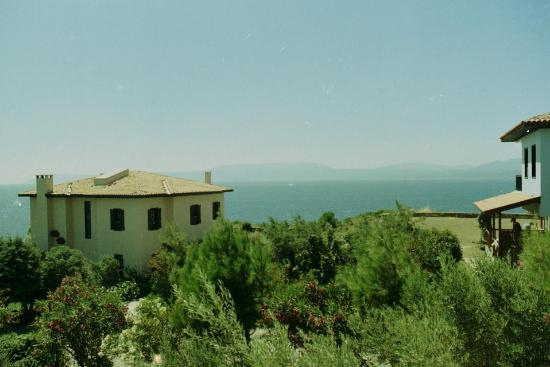 Teos Village: The Aegean Sea viewed from the window of our room