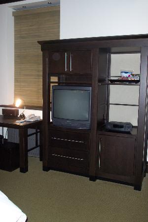 Hotel Le Germain Quebec: Entertainment Unit in room.