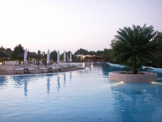 Diamonds La Gemma dell' Est: Main swimming pool at dusk