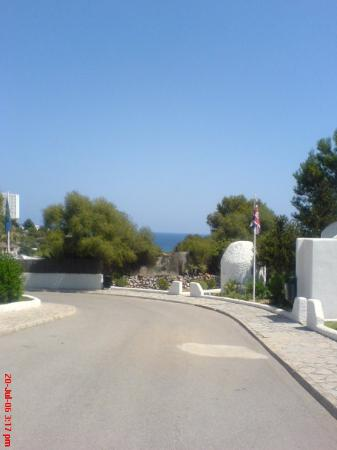 Eden Village Cala Domingos: View walking down the hill from our apartment