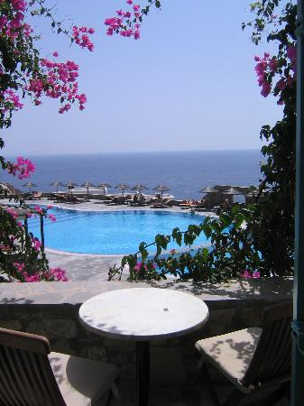 Royal Myconian Resort & Thalasso Spa Center: View from balcony
