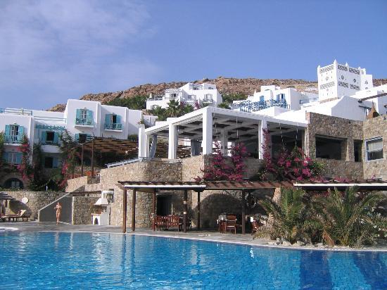 Royal Myconian Resort & Thalasso Spa Center: View of Pool Deck