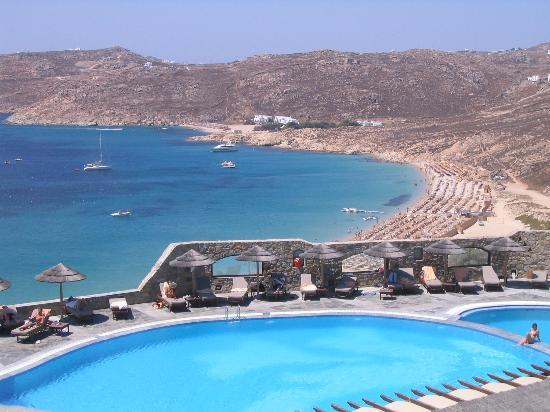 Royal Myconian Resort & Thalasso Spa Center: View of Pool & Ocean