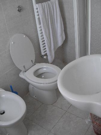 Hotel Alex: Clean, somewhat small bathroom