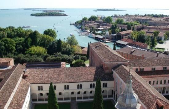 San Giorgio Maggiore: Vue sur monastère et lagune