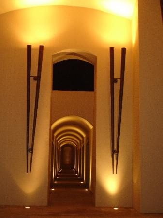 Trident, Gurgaon: Night view of the exterior halls