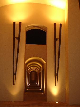 Trident, Gurgaon : Night view of the exterior halls